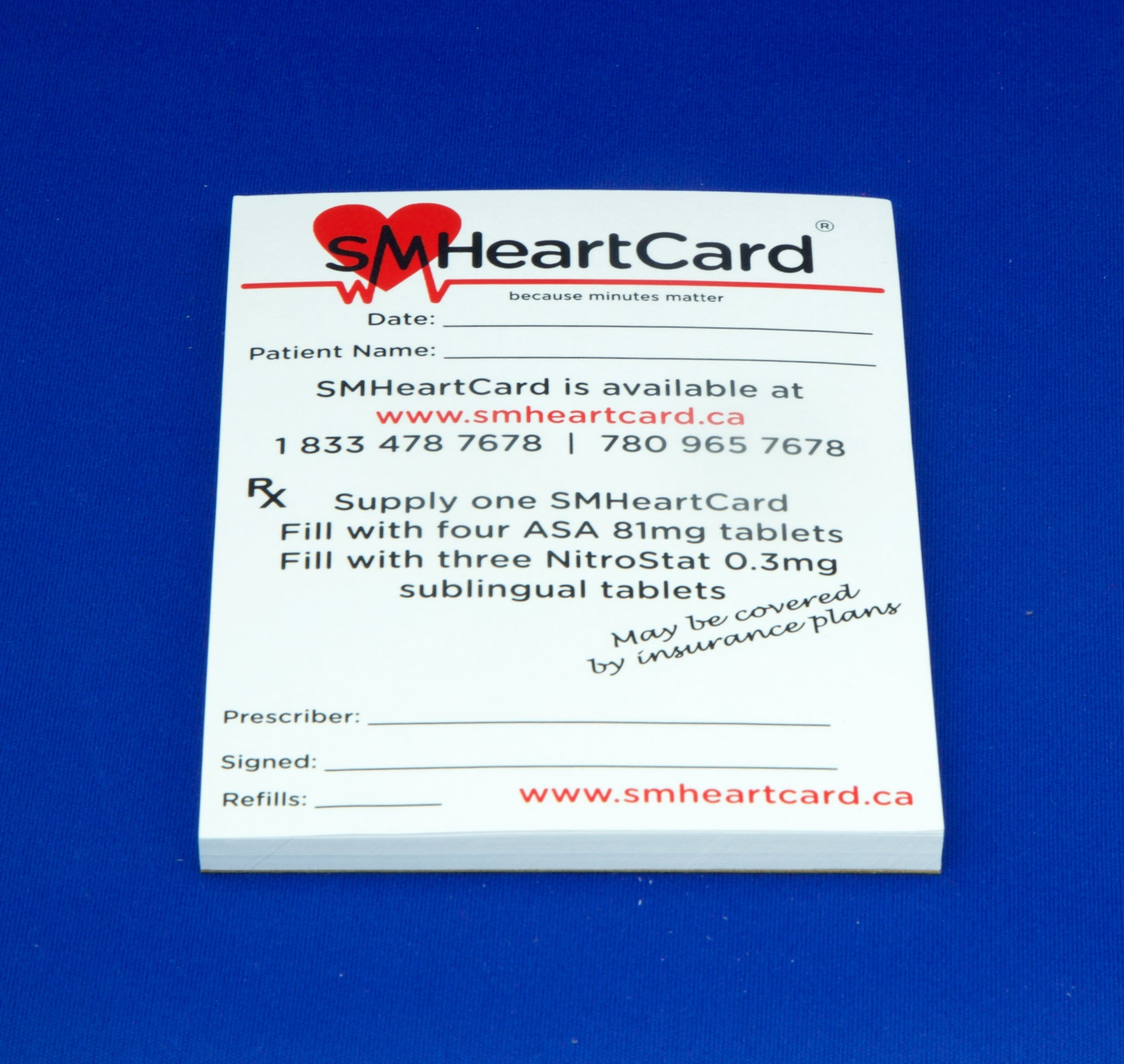 Pharmacy Starter Kit: Display Box with 20 SMHeartCards Patient Assessment Forms Prescription Pad