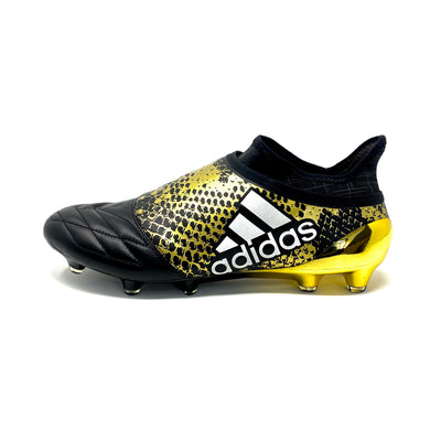 Adidas SAMPLE X 16+ purechaos leather black/gold - EUNIQUEBOOTS