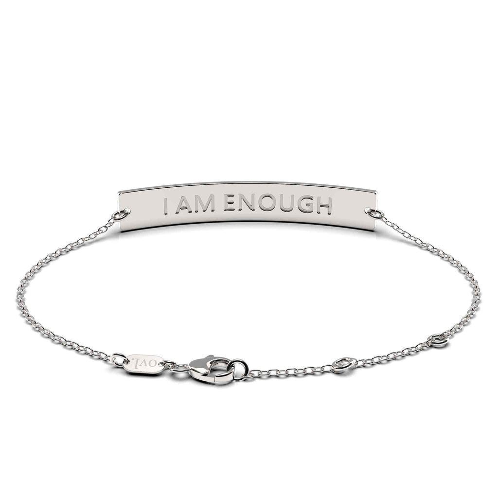 I Am Enough Bar Bracelet