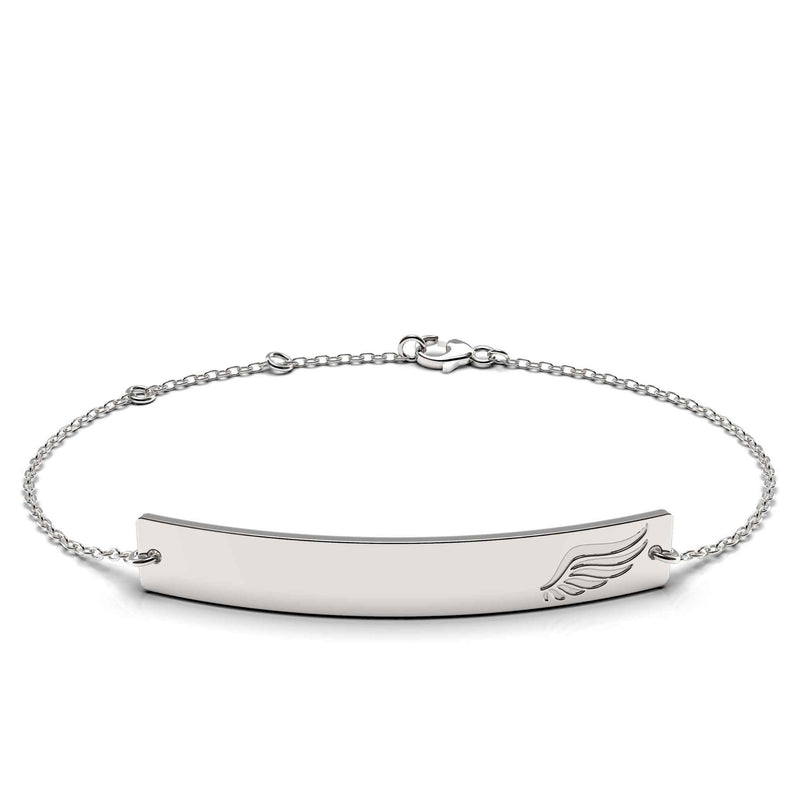 Angel Wing Bar Bracelet