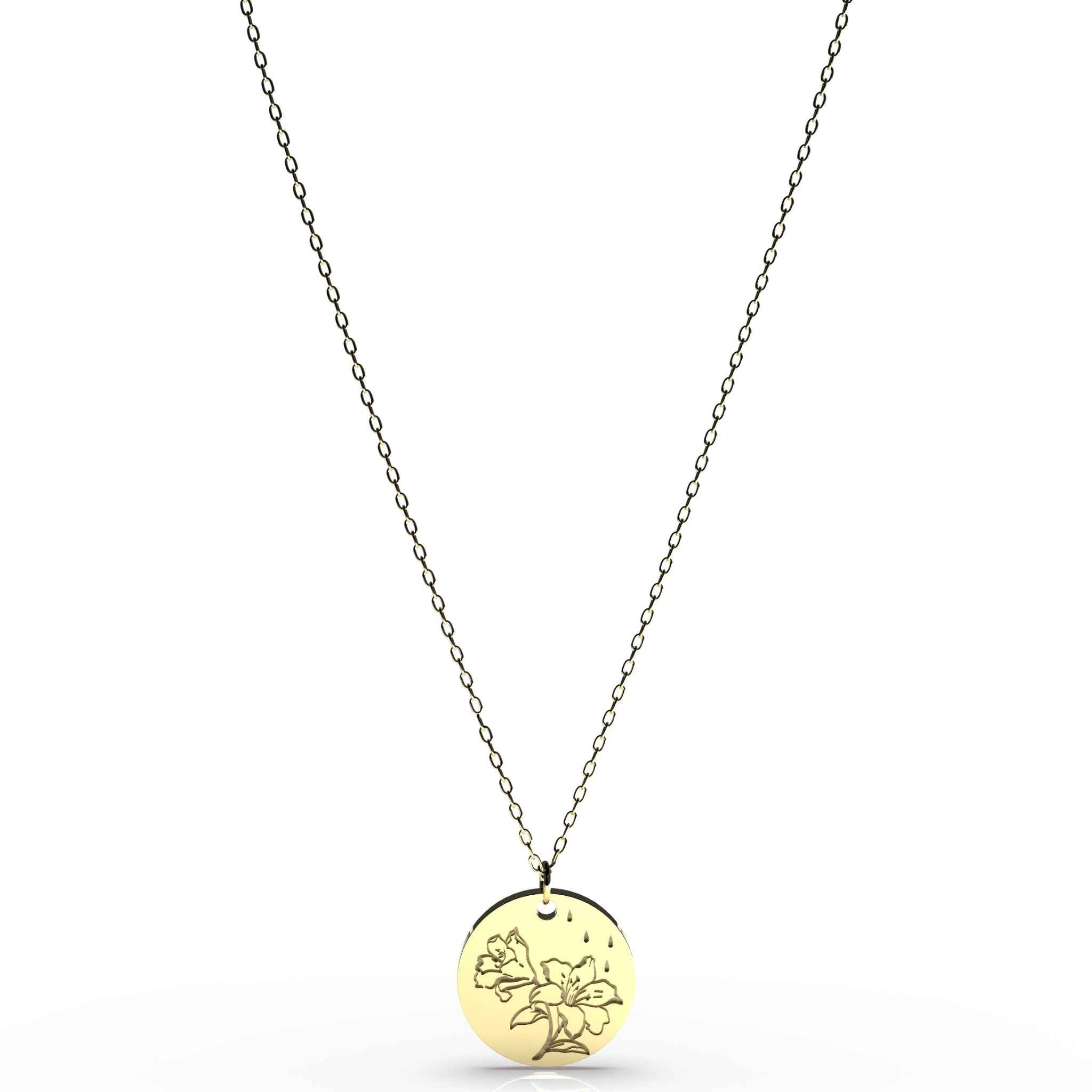 No Rain, No Flowers Disc Necklace by Brittany Noonan