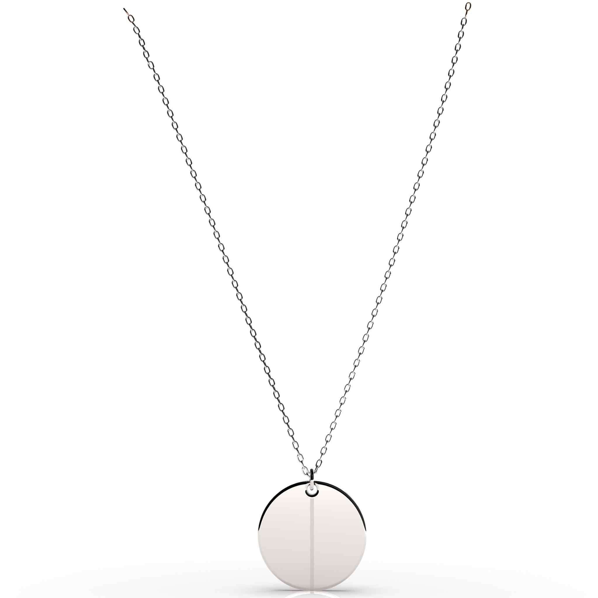 Balance Round Pendant Necklace