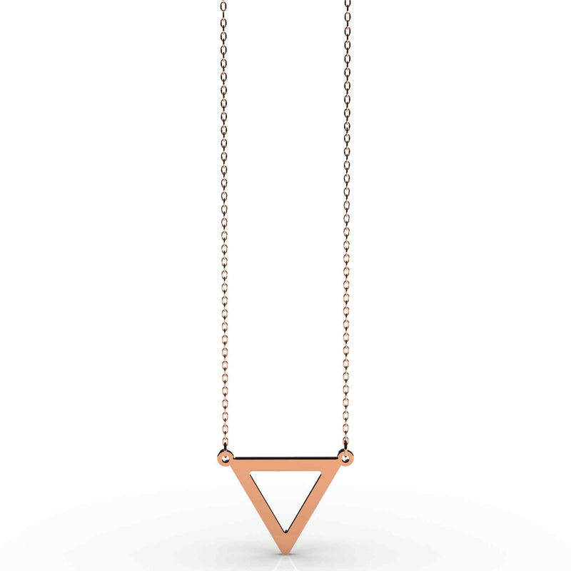 Delta Triangle Pendant Necklace