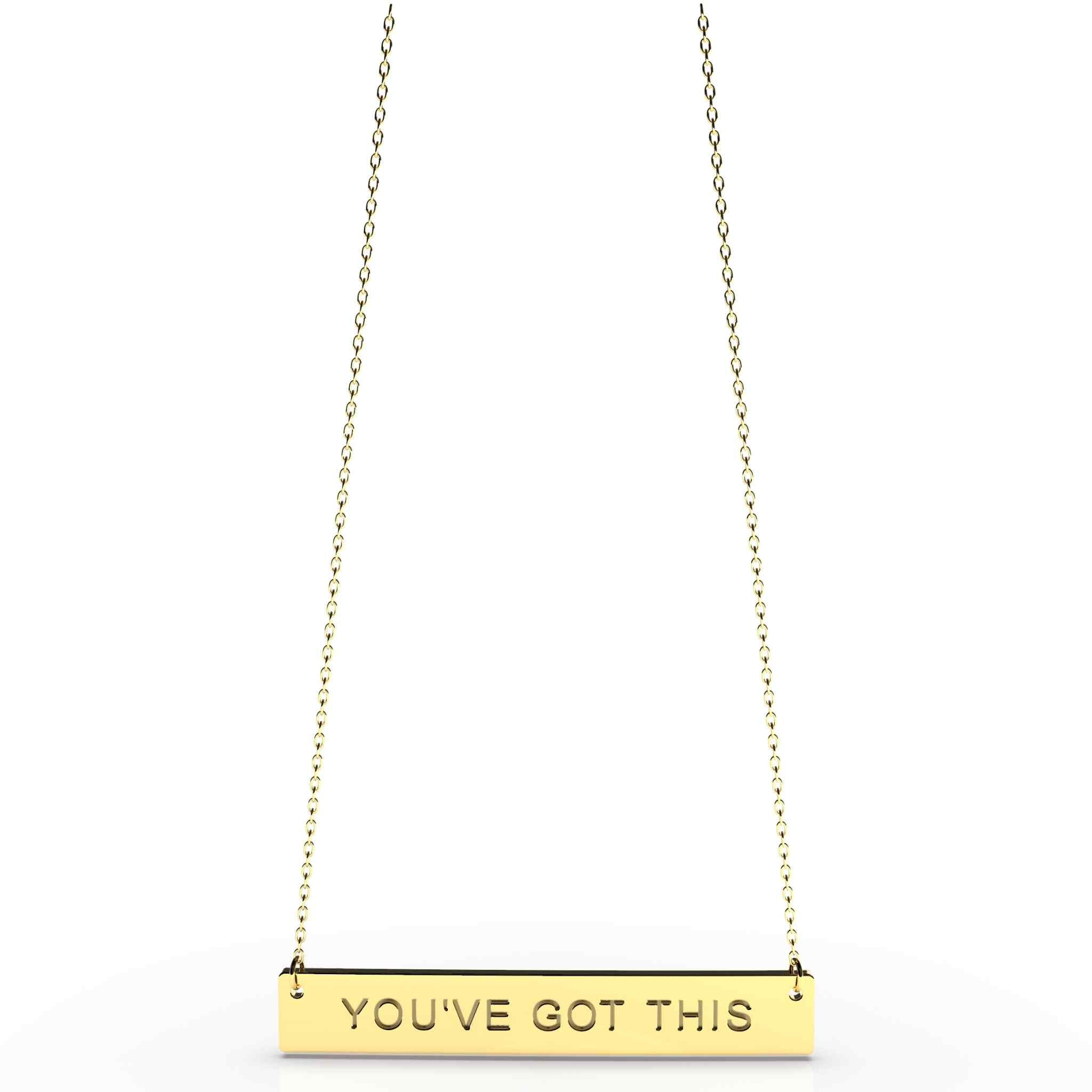 You've Got This Bar Pendant Necklace