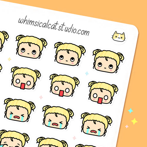 Emoji Head Planner Stickers