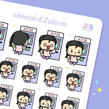Load image into Gallery viewer, ATM Cash Withdrawal Planner Stickers