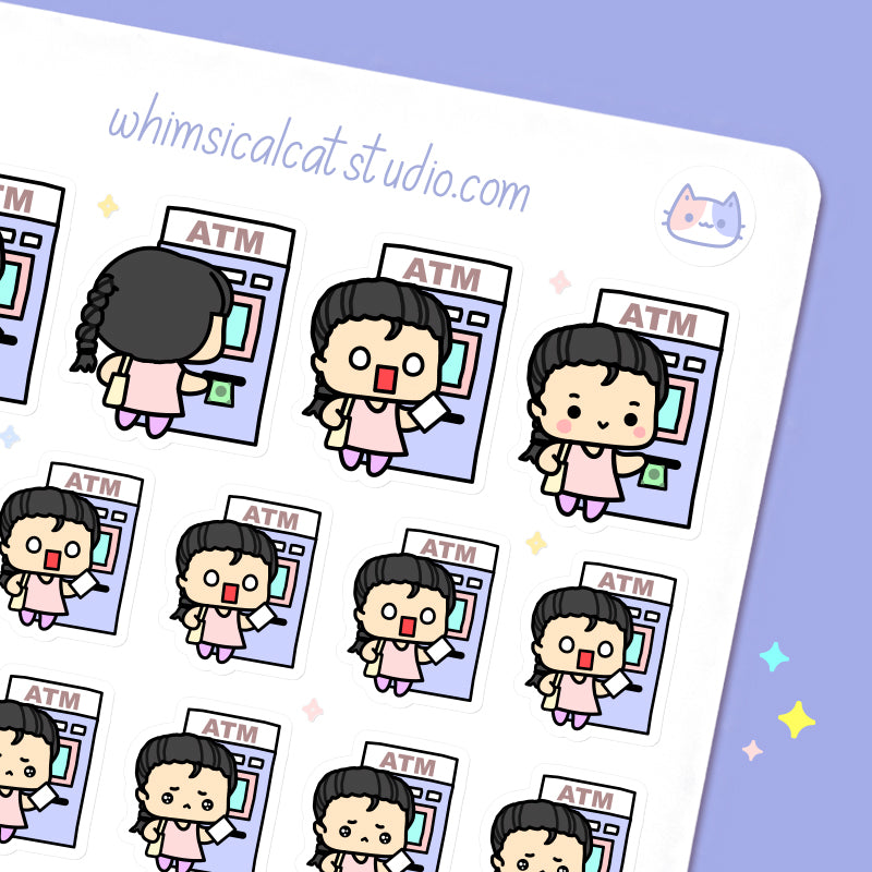 ATM Cash Withdrawal Planner Stickers