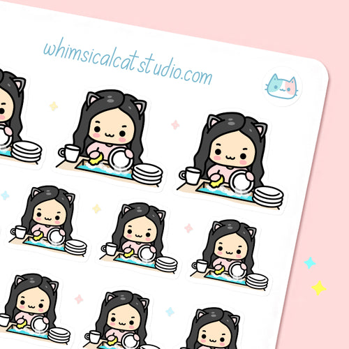 Washing Dishes Planner Stickers