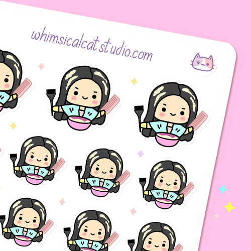 Hair Color Planner Stickers