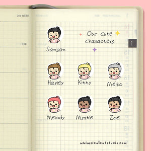 Cuddle Up In Blanket Planner Stickers