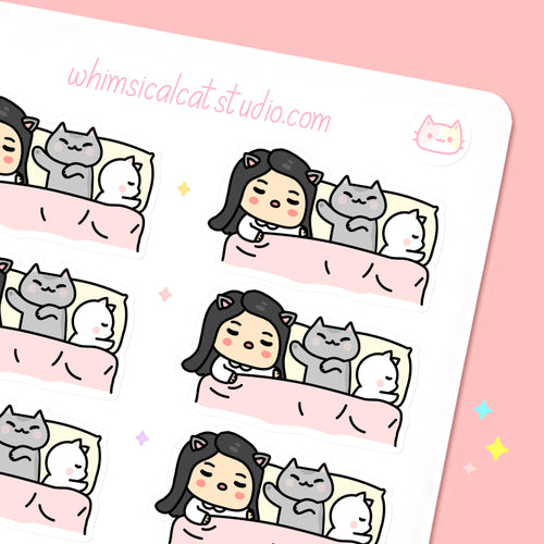 Nap Time with Cats Planner Stickers