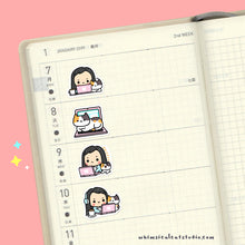 Load image into Gallery viewer, Work From Home With Cat Planner Stickers
