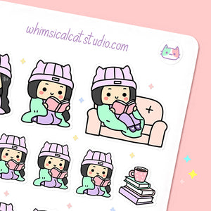 Cozy Reading Planner Stickers