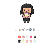 Load image into Gallery viewer, DIGITAL: Create your own Whimsical Girl (Unlimited Download for a Limited Time)
