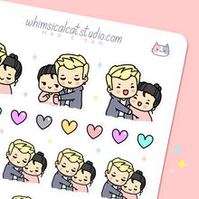 Load image into Gallery viewer, Hug Couple Planner Stickers
