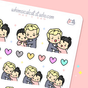 Hug Couple Planner Stickers