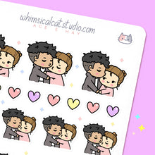 Load image into Gallery viewer, Kiss Couple Planner Stickers
