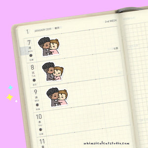 Kiss Couple Planner Stickers