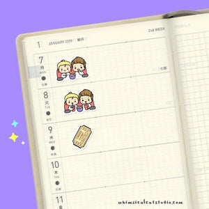 Whimsical Cat Studio Planner Stickers