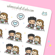 Load image into Gallery viewer, Couple Dinner Planner Stickers