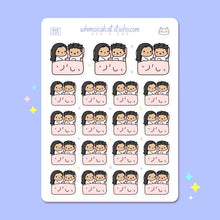 Load image into Gallery viewer, Couple in Bed Planner Stickers