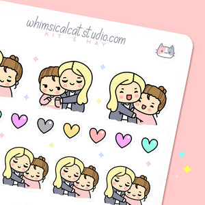 BFF/Girl Couple Hug Stickers