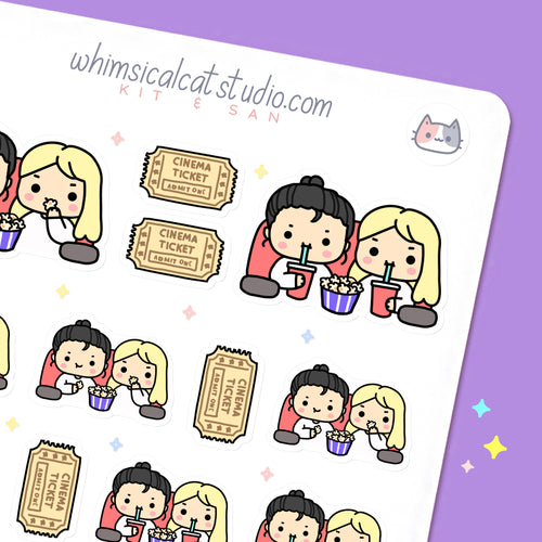 Movie Date BFF Planner Stickers