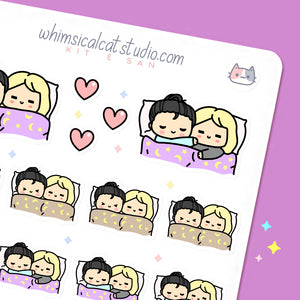 Cuddle BFF/Girl Couple Stickers