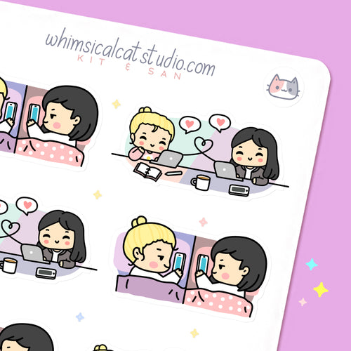 Long Distance BFF Planner Stickers