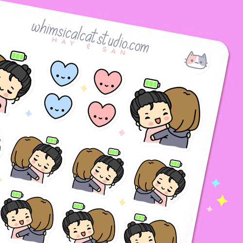 Fully Charged BFF Planner Stickers