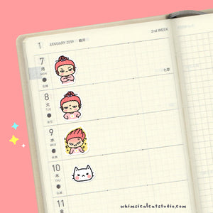 Angry Girl Planner Stickers