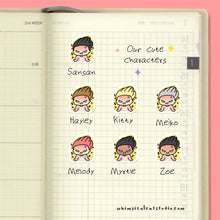 Load image into Gallery viewer, Angry Girl Planner Stickers