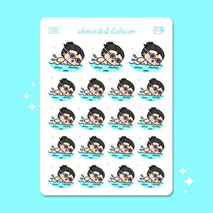 Swimming Planner Stickers