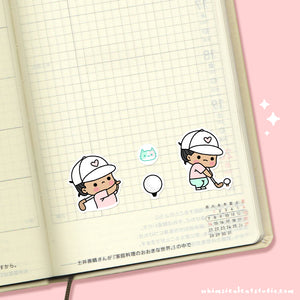 Golf Planner Stickers