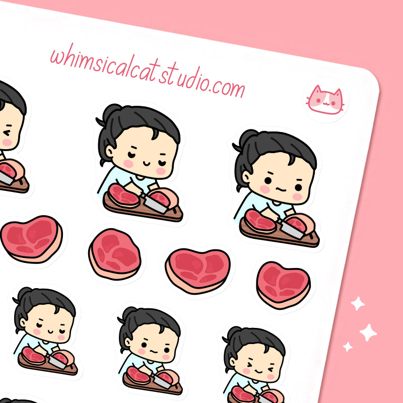 Cutting Meat Planner Stickers