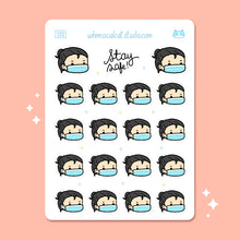 Load image into Gallery viewer, Face Mask Planner Stickers