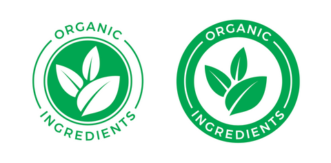 Organic ingredients stamp