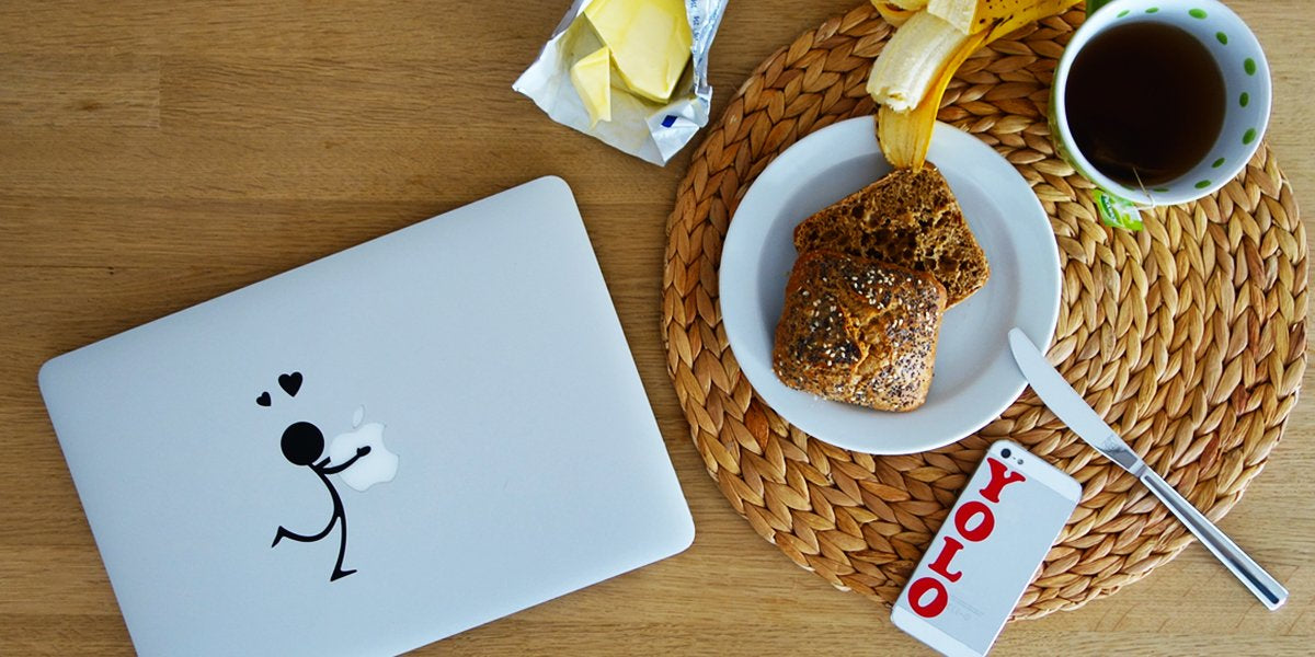 MacBook stickers - Produceret i Viborg.