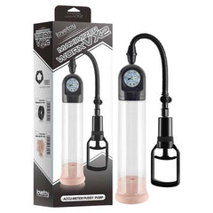 Maximizer Worx VX2 - Accu-Meter Pussy Pump - Black Penis Pump with Vagina Sleeve