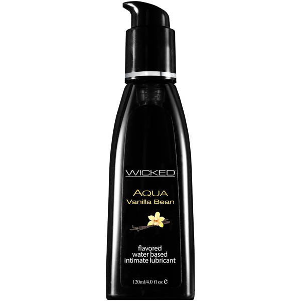 Wicked Aqua Vanilla Bean - Vanilla Bean Flavoured Water Based Lubricant - 120 ml (4 oz) Bottle