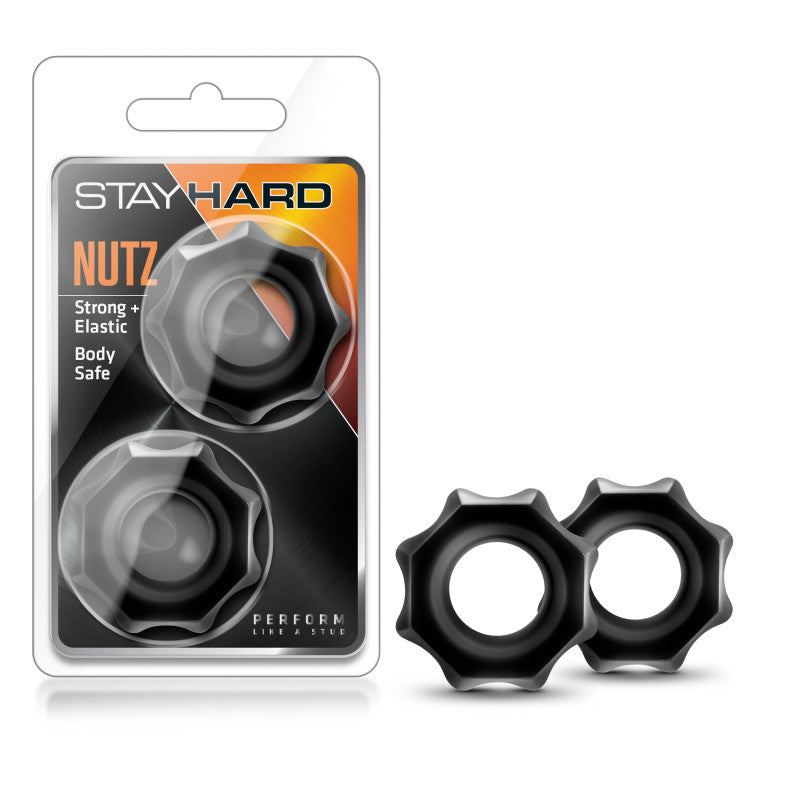 Stay Hard Nutz - Black Cock Rings - Set of 2