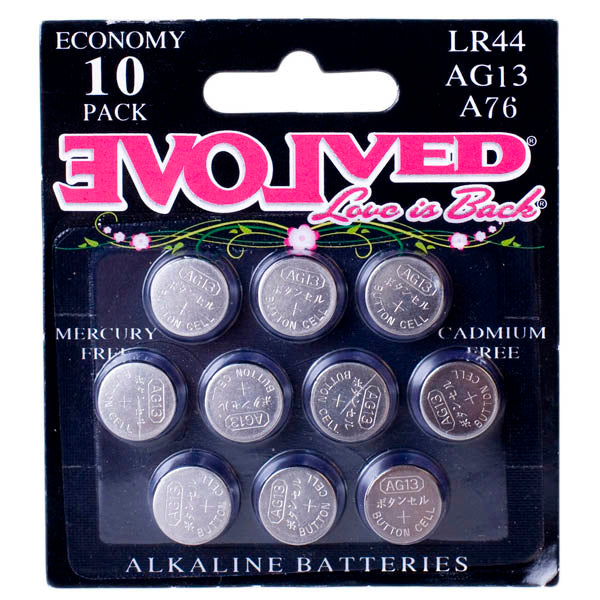 Evolved LR44 Alkaline Batteries - LR44 (AG13) Batteries - 10 Pack
