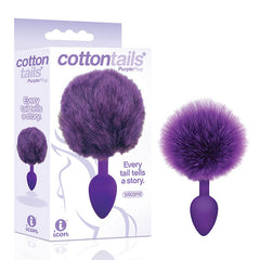 The 9's Cottontails - Purple Butt Plug with Bunny Tail