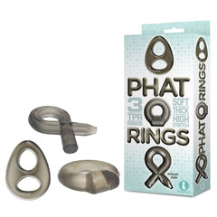 The 9's Phat Rings - Smoke Cock Rings - Set of 3