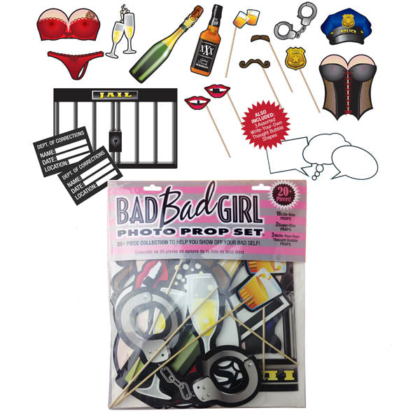 Bad Bad Girl Photo Prop Set - Hen's Party Photo Props - Set of 20+ Items