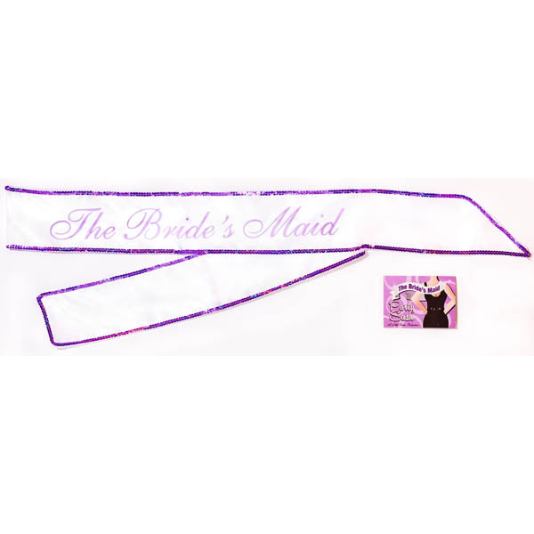 The Bride's Maid Sash - White Hens Party Sash
