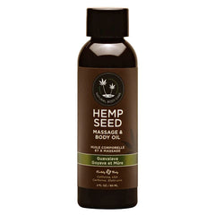 Hemp Seed Massage & Body Oil - Guavalava (Guava & Blackberry) Scented - 59 ml Bottle