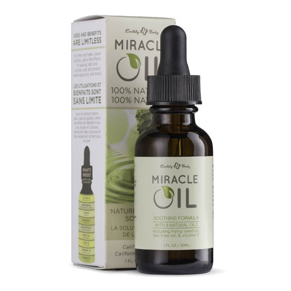 Miracle Oil - Skin Soothing Oil with Hemp Seed - 30 ml Dropper Bottle
