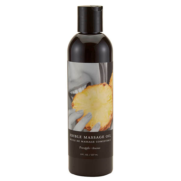 Edible Massage Oil - Pineapple Flavoured - 237 ml Bottle
