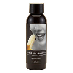 Edible Massage Oil - Banana Flavoured - 59 ml Bottle